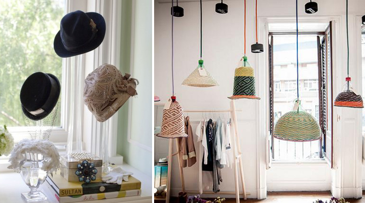 ideas para decorar con sombreros
